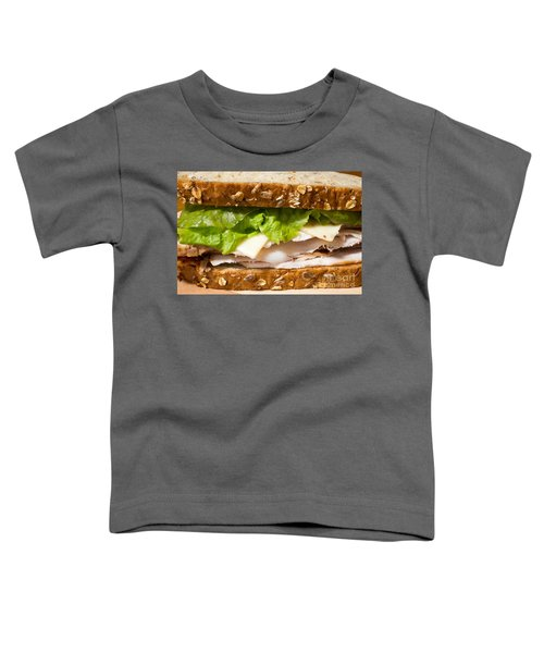 Smoked Turkey Sandwich Toddler T-Shirt by Edward Fielding