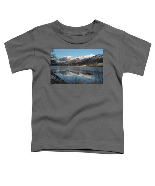 Snow Lake Reflections Toddler T-Shirt by Kathy Spall