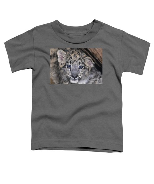 Snow Leopard Cub Endangered Toddler T-Shirt
