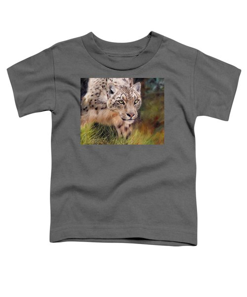 Snow Leopard Toddler T-Shirt