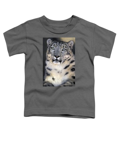 Snow Leopard Portrait Endangered Species Wildlife Rescue Toddler T-Shirt