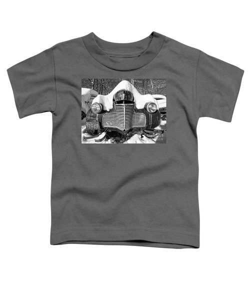 Snowed In A Thick Blanket Of Snow Covering A Vintage Chevy Toddler T-Shirt