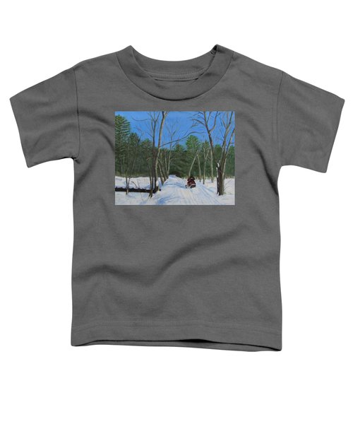 Snowmobile On Trail Toddler T-Shirt