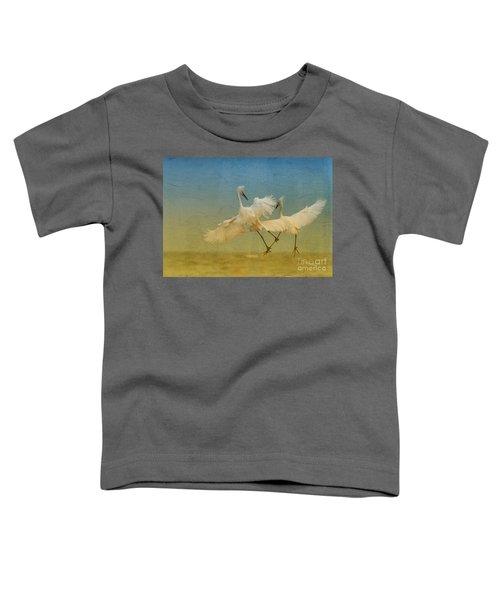 Snowy Egret Dance Toddler T-Shirt