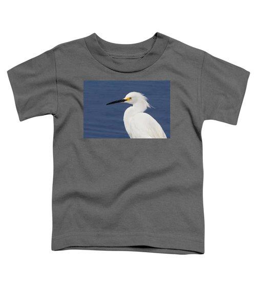 Snowy Egret Portrait Toddler T-Shirt