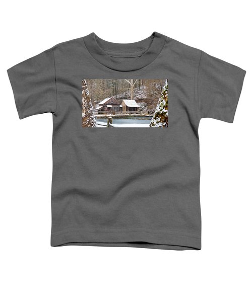 Snowy Morning In The Woods Toddler T-Shirt