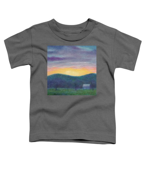 Blue Yellow Nocturne Solitary Landscape Toddler T-Shirt