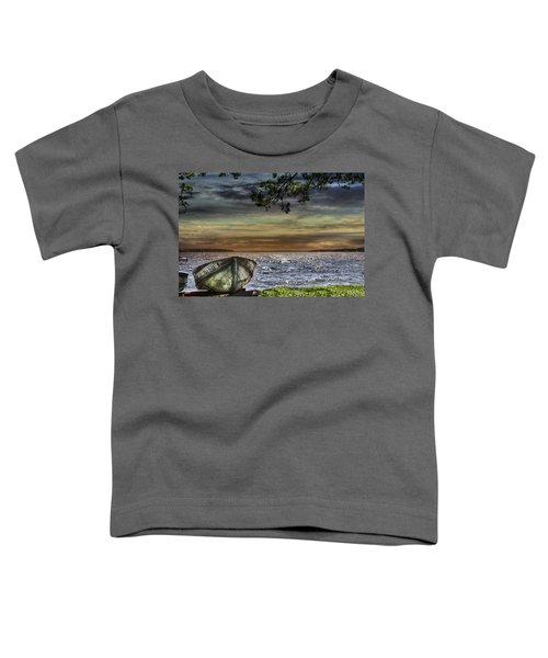 South Manistique Lake With Rowboat Toddler T-Shirt