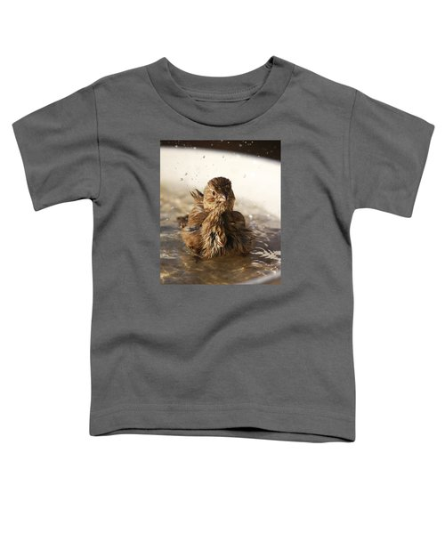 Sparrow Bathing Toddler T-Shirt