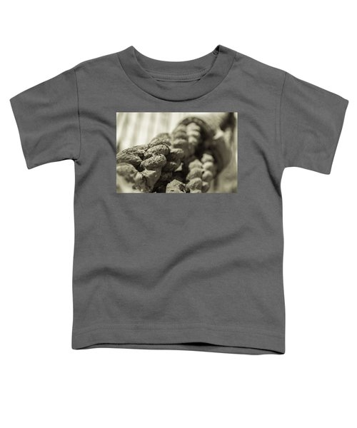 Spliced And Bound Black And White Sepia Toddler T-Shirt