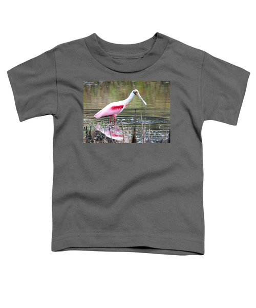 Spoonbill In The Pond Toddler T-Shirt by Carol Groenen