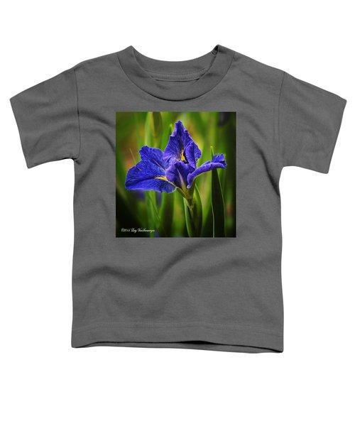 Spring Blue Iris Toddler T-Shirt