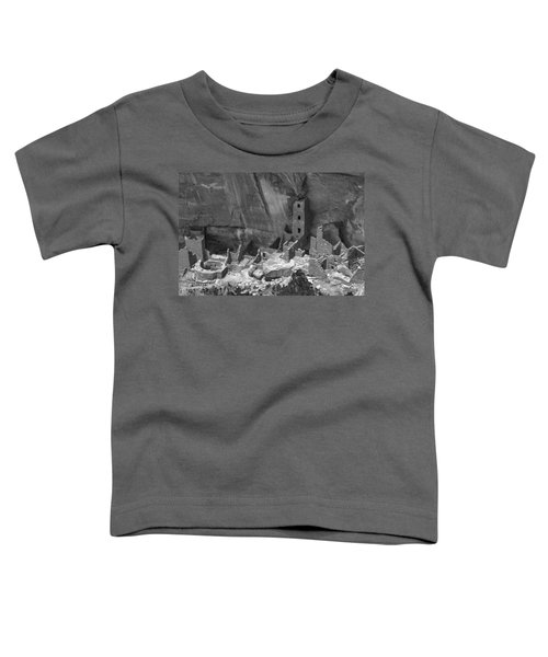Square Tower At Mesa Verde Bw Toddler T-Shirt
