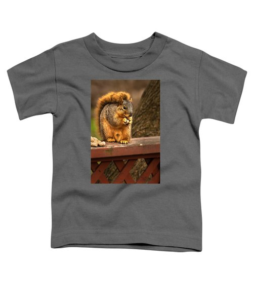 Squirrel Eating A Peanut Toddler T-Shirt
