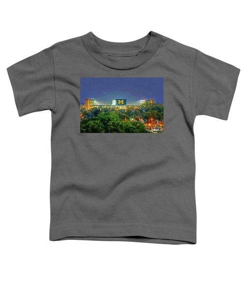 Stadium At Night Toddler T-Shirt by John Farr