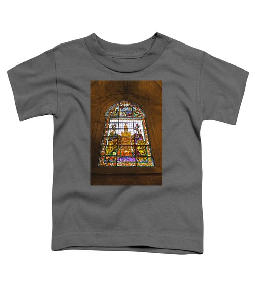 Stained Glass Window In Seville Cathedral Toddler T-Shirt