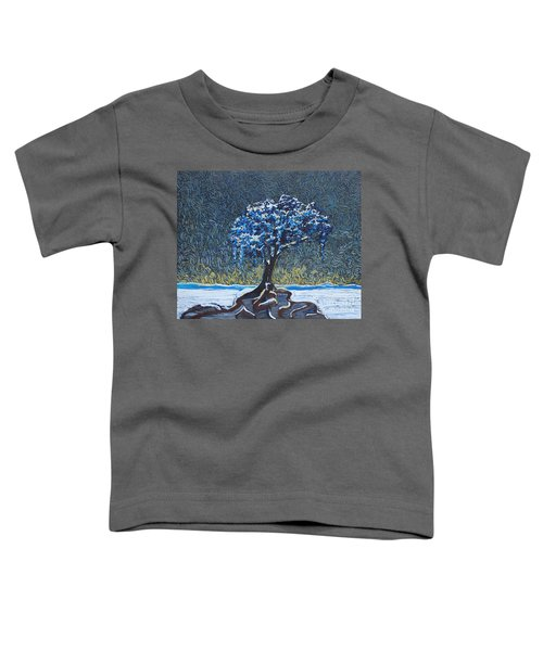 Standing Alone In The Snow Toddler T-Shirt