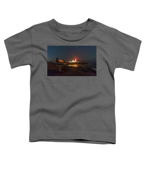 Starry Skies Over Nubble Lighthouse  Toddler T-Shirt