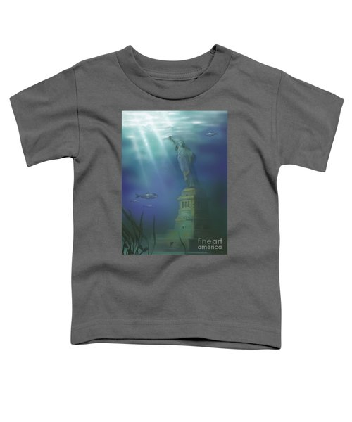 Statue Of Liberty Under Water Toddler T-Shirt