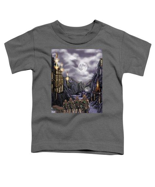 Steampunk Moon Invasion Toddler T-Shirt