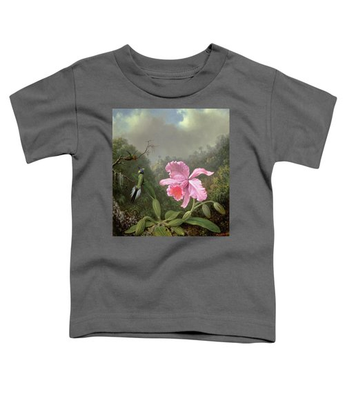 Still Life With An Orchid And A Pair Of Hummingbirds Toddler T-Shirt
