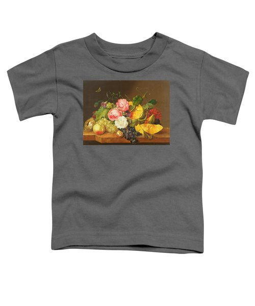 Still Life With Flowers And Fruit, 1821 Toddler T-Shirt