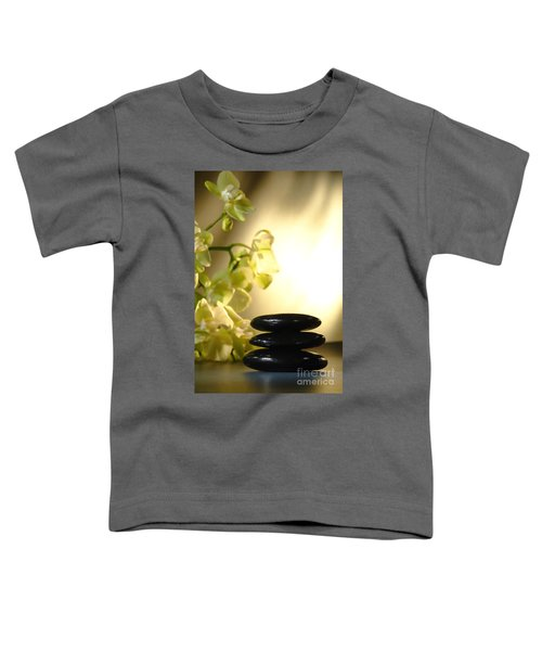 Stone Cairn And Orchids Toddler T-Shirt