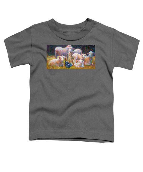Stranger At The Well - Spring Lambs Sheep And Hen Toddler T-Shirt