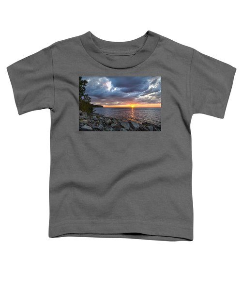 Sundown Bay Toddler T-Shirt by Bill Pevlor