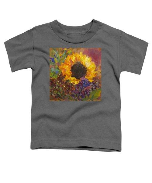 Sunflower Dance Original Painting Impressionist Toddler T-Shirt