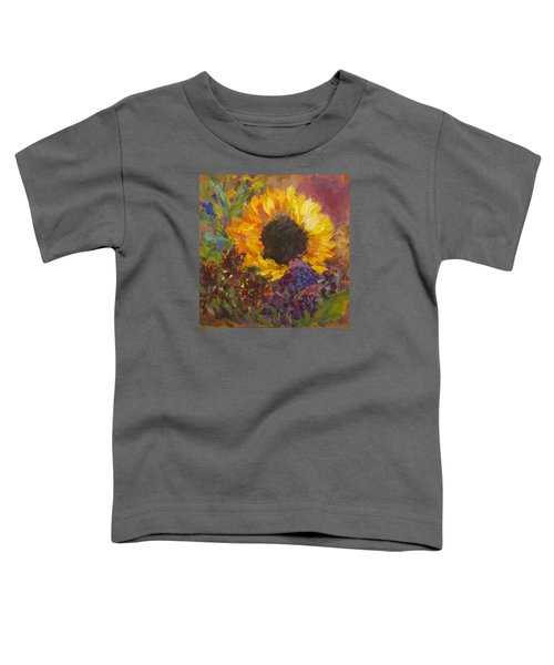 Sunflower Dance Original Painting Impressionist Toddler T-Shirt