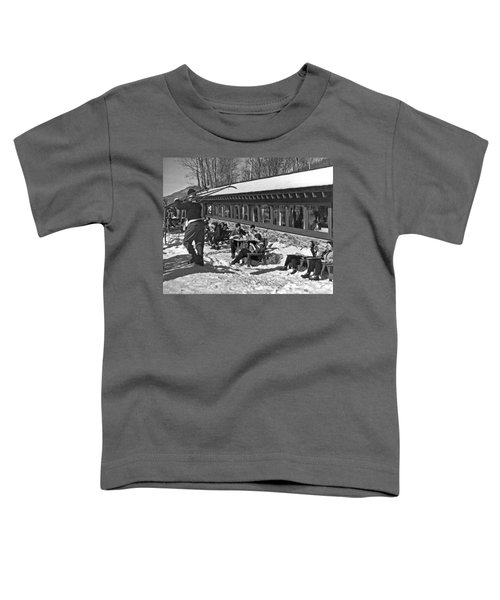 Sunny Day After Skiing Toddler T-Shirt