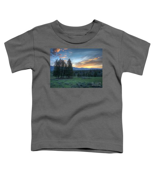 Sunrise Behind Pine Trees In Yellowstone Toddler T-Shirt