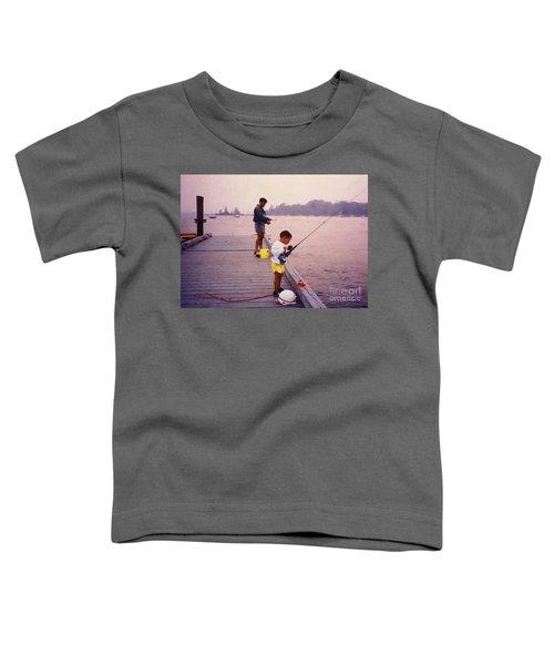 Sunrise Fishing Toddler T-Shirt