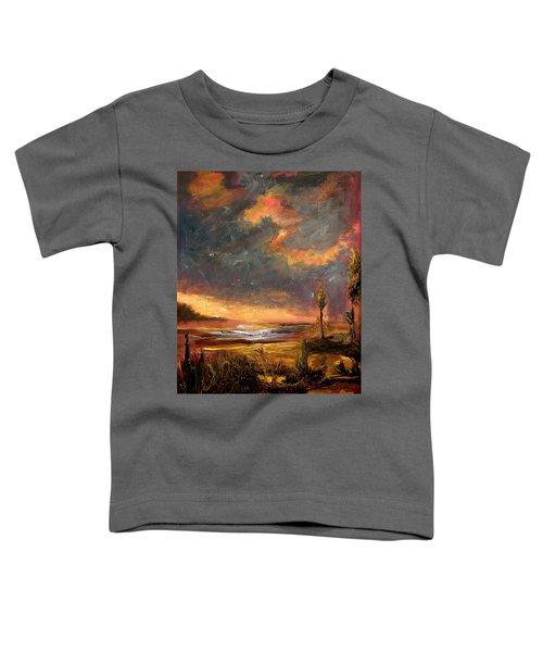 Sunrise With Birds  Toddler T-Shirt
