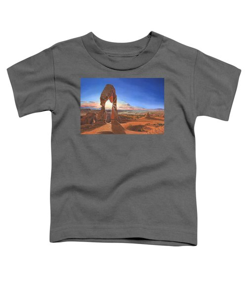 Sunset At Delicate Arch Utah Toddler T-Shirt