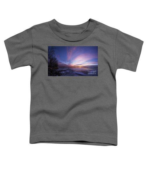 Sunset At Lovewell Lake Kansas Toddler T-Shirt