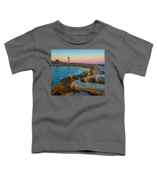 Sunset At Old Scituate Lighthouse Toddler T-Shirt