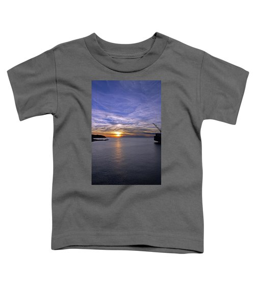Sunset In Adriatic Toddler T-Shirt