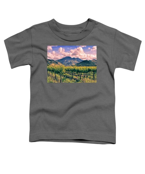 Sunset In Napa Valley Toddler T-Shirt