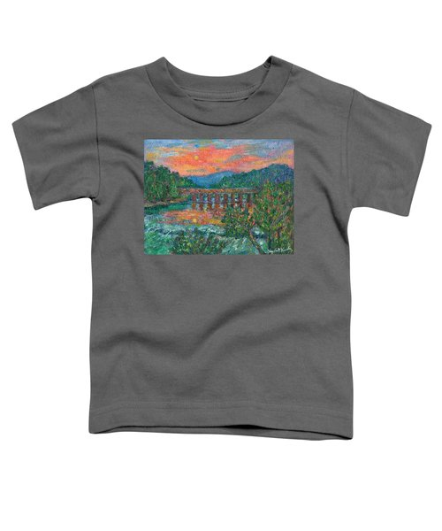 Sunset On The New River Toddler T-Shirt