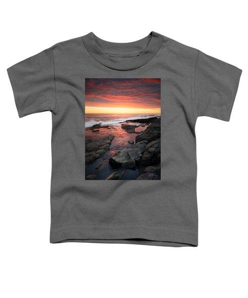 Sunset Over Rocky Coastline Toddler T-Shirt