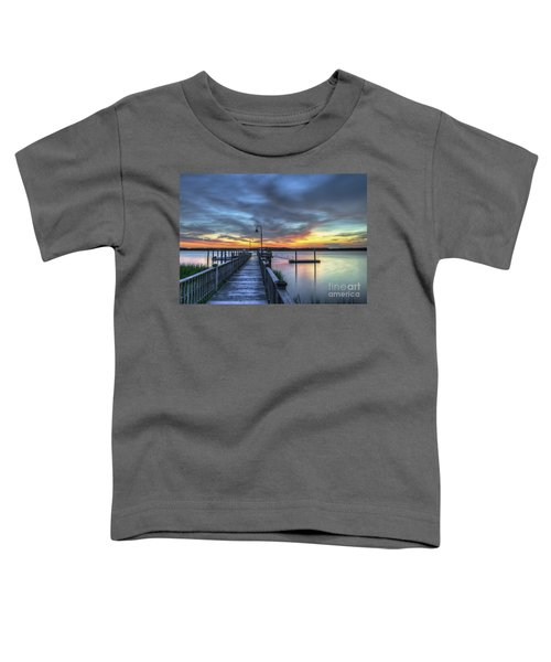 Sunset Over The River Toddler T-Shirt