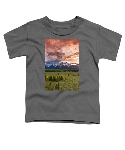 Sunset Over The Tetons  Toddler T-Shirt