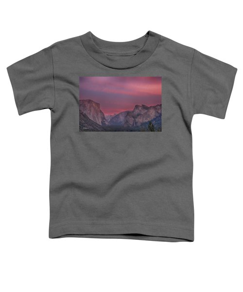 Sunset Sky Yosemite Toddler T-Shirt