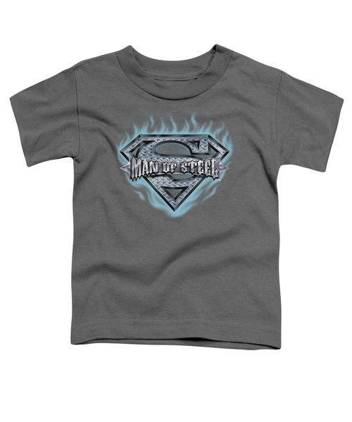 Superman - Man Of Steel Shield Toddler T-Shirt