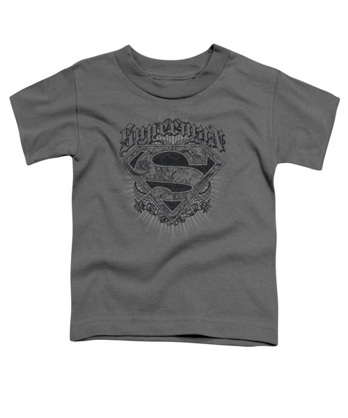 Superman - Scrolling Shield Toddler T-Shirt