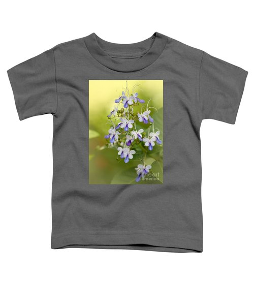 Sweet Butterfly Flowers Toddler T-Shirt