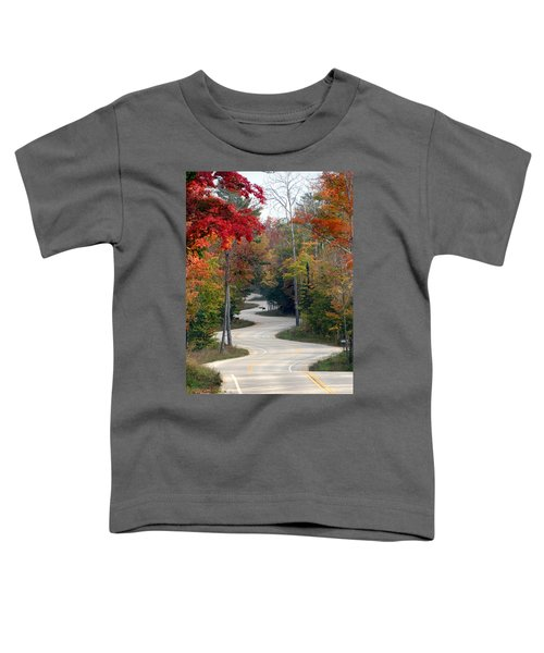Swervy Road At North Port Toddler T-Shirt