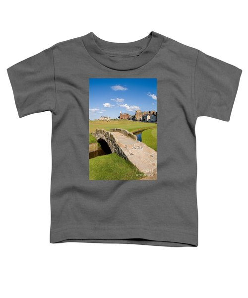 Swilcan Bridge On The 18th Hole At St Andrews Old Golf Course Scotland Toddler T-Shirt
